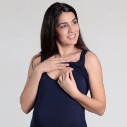 Top de grossesse et d'allaitement rayé